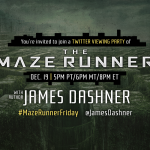 The Maze Runner Twitter Party tonight